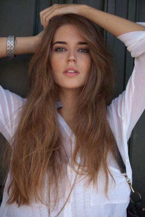Light Brown Hair Tumblr On We Heart It Honey Brown Hair Honey Brown Hair Color Honey Blonde Hair