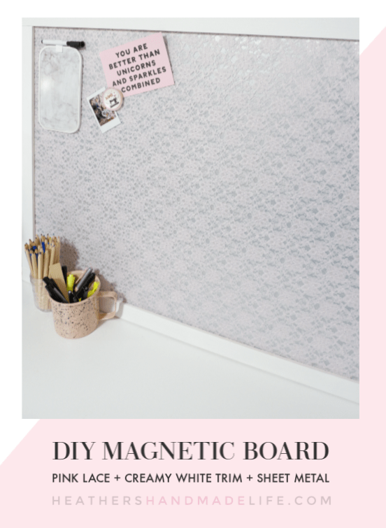 Pink Lace Diy Magnetic Board Diy Magnet Board Magnetic Board Diy Memo Board