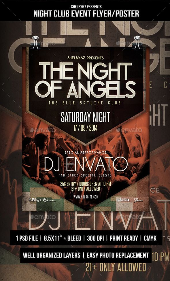 Night Club Event Flyer Poster Pinterest Event Flyers Night - Buy flyer templates