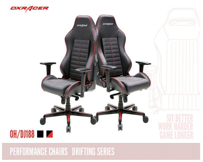 The Most Expensive Dxracer Chair Till Now Dj188nr Black With Red