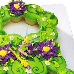 Tinkerbell Cupcake Cake Kit | Cupcake cakes, Cake ...