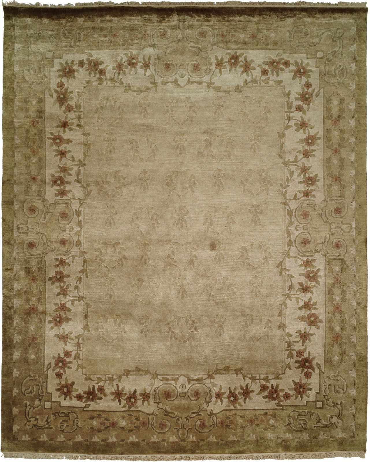 Kuantan Hand Knotted Ivory Area Rug With Images Area Rugs