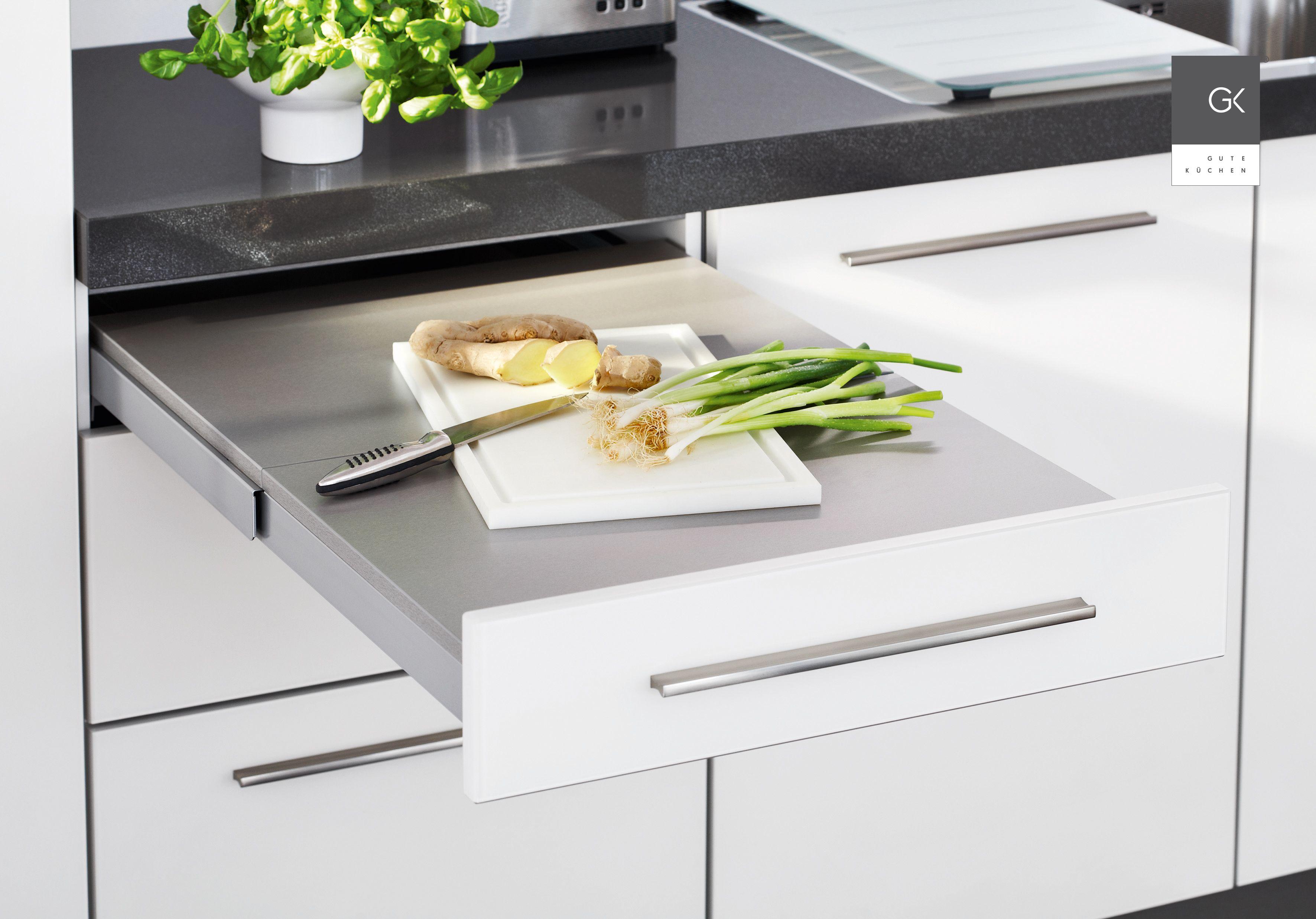Ausziehbare Arbeitsplatte  Moderne küche, Küchen design, Küche