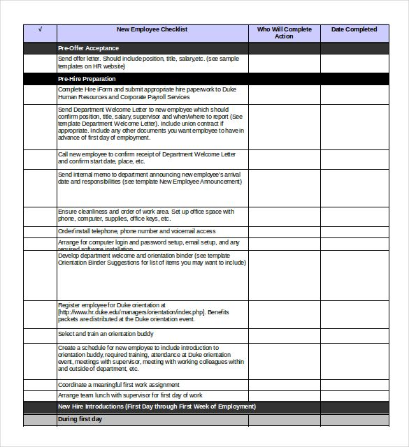 Checklist Templates Word Adorable You Should Only Use An Excel Onboarding Checklist Template When .