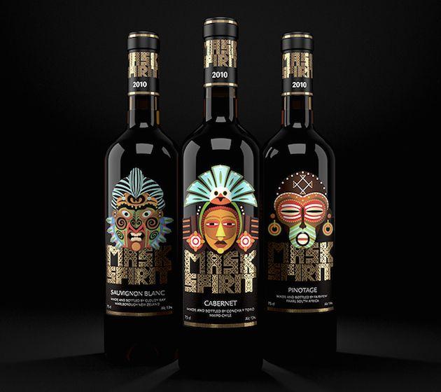 Mask Spirit | Дизайн этикетки, Латте арт и Алкогольные напитки