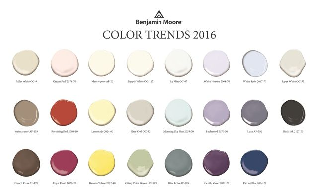 Color Trends 2016 Color Trends Inspiration Academy Farby
