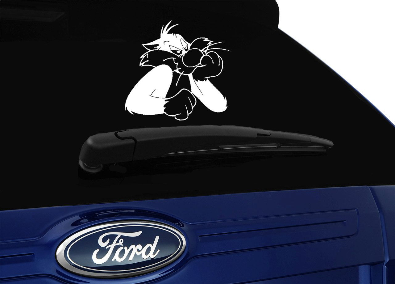 Sylvester Inspired Car Window Sticker Cartoon Car Decal Window Decal Vinyl Sticker Car Window Stickers Car Cartoon Window Decals [ 919 x 1280 Pixel ]