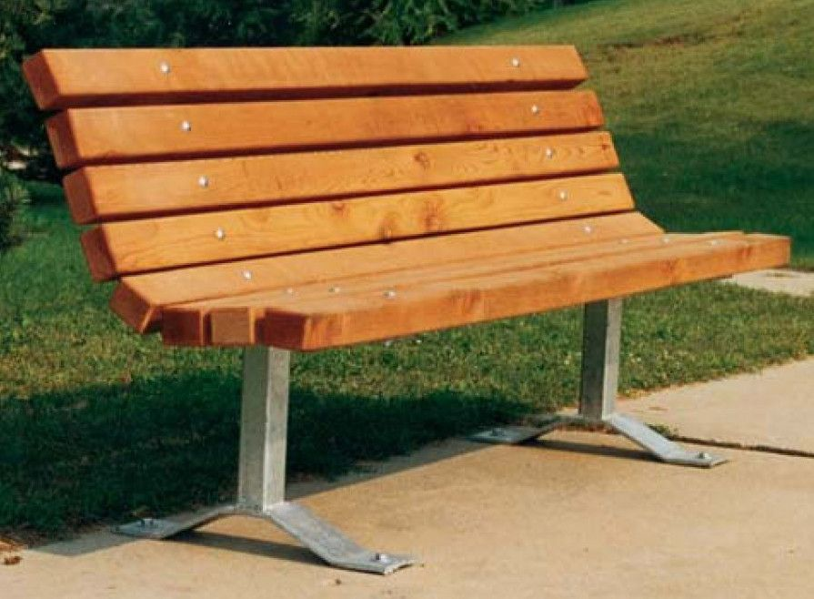 Outdoor Park Bench