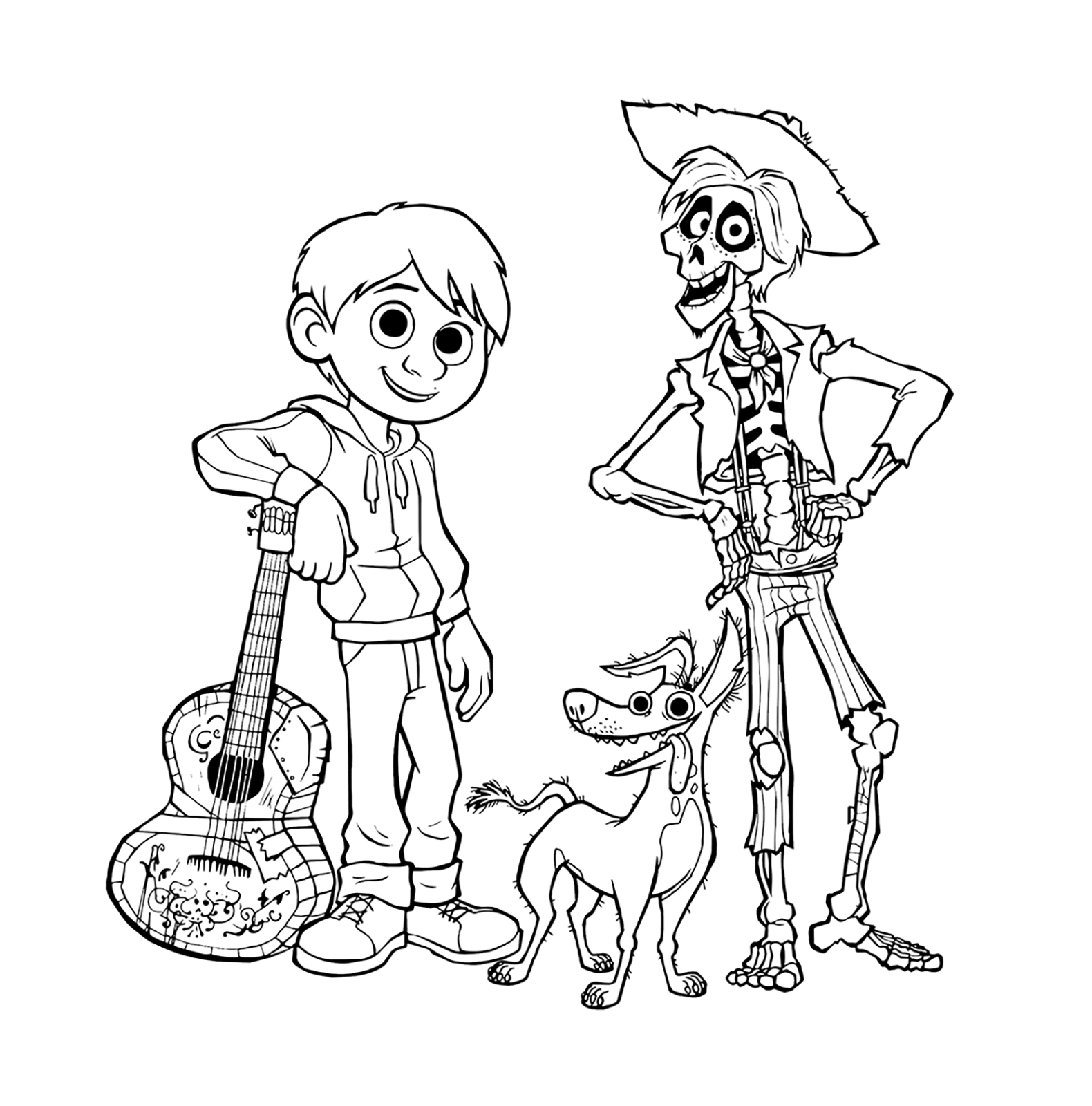 Coco coloring pages Have fun to print and color Coco