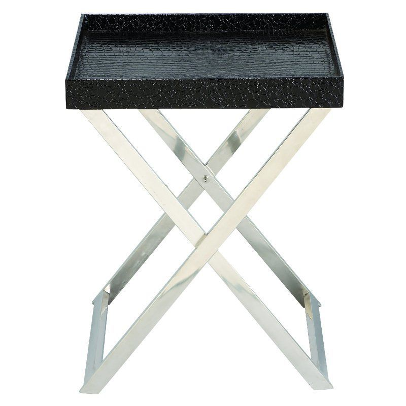 Decmode Faux Leather Tray End Table 70654 Side Table Leather Tray