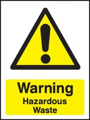 Warning Hazardous Waste Warning Sign For The Bathroom Warning Signs Signs Construction Signs