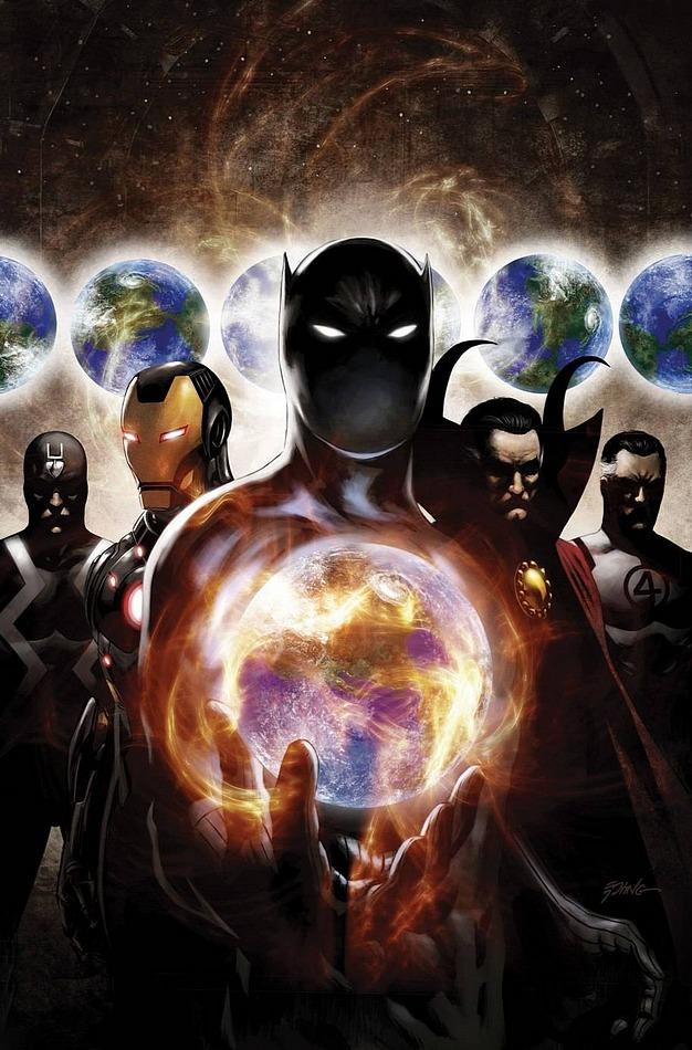 Black Bolt, Iron Man, Black Panther, Dr. Strange & Mr. Fantastic - the Illuminati