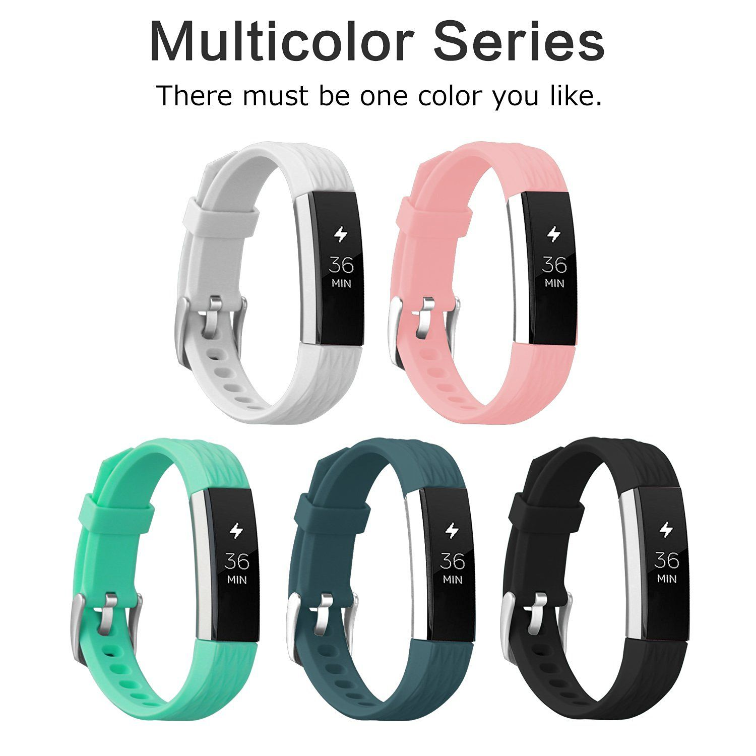Vancle Fitbit Alta Bands Replacement Wristband Sport Band With Secure Silicone Fastener For Fit