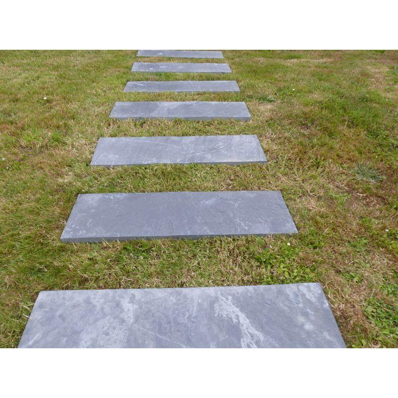 Dalle Pas Japonais Rectangulaire 80x30 3701098500256 Pas Japonais Amenagement Jardin Deco Piscine
