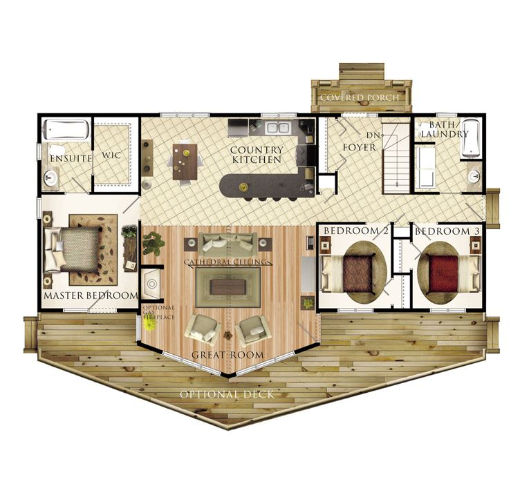 1428 Sqft Move Master Suite To Other End To Cluster Bedrooms Add Workshop Garage Where Master