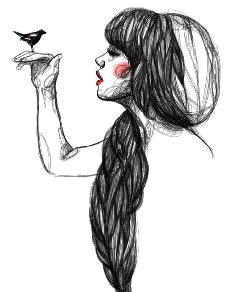 #girl #drawings #cute