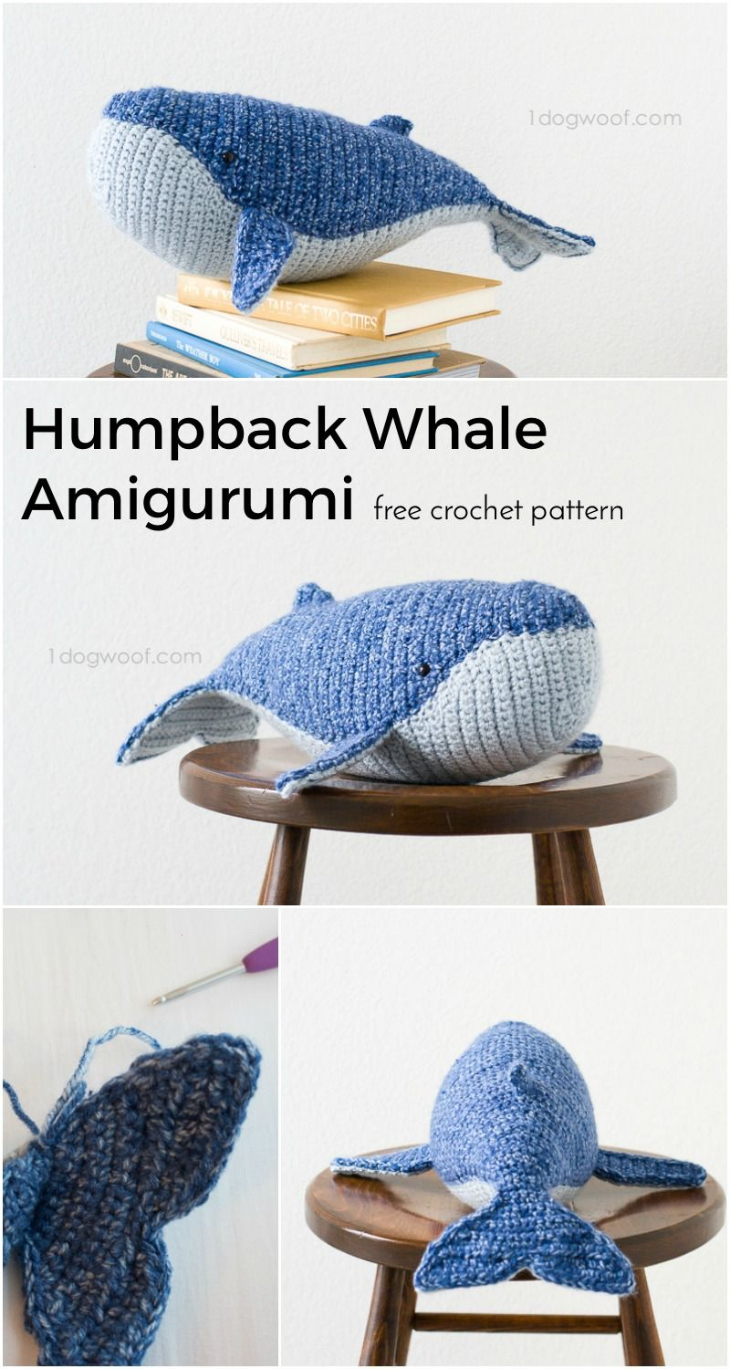 Baby Humpback Crochet Whale Free Pattern - One Dog Woof