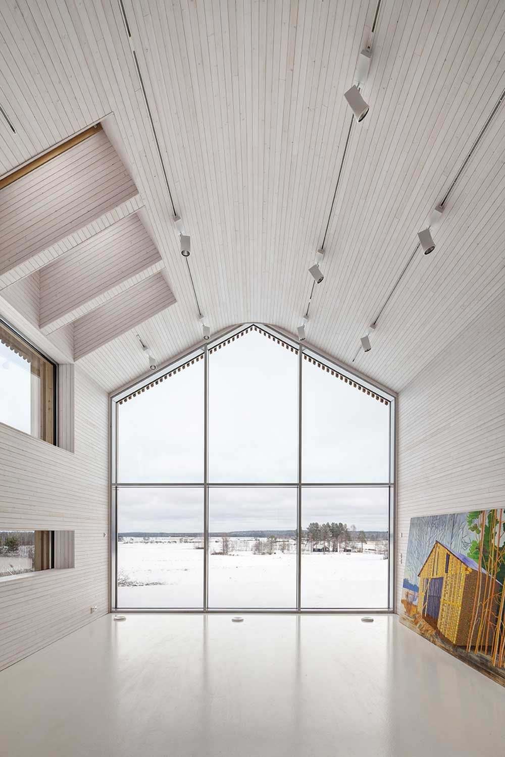 house shaped window in the living room