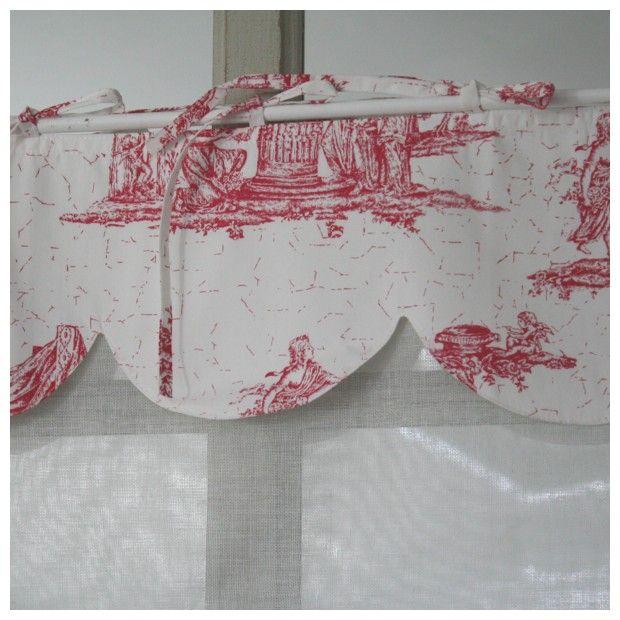 brise bise rideau toile de jouy et cantonniere d co cosy tuto rideau et brise pinterest. Black Bedroom Furniture Sets. Home Design Ideas