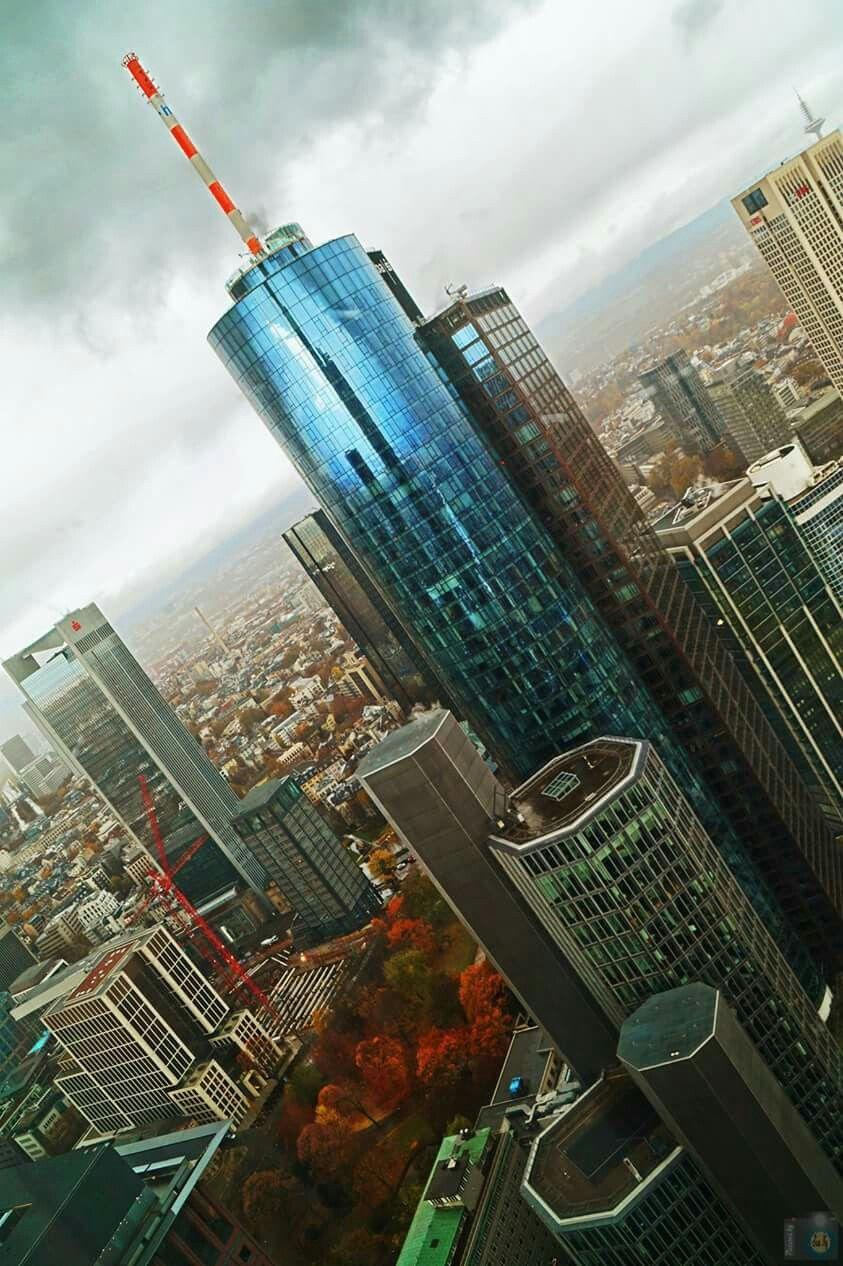 Frankfurt Blick Aus Dem Commerzbank Tower Frankfurt Deutschland Frankfurt Tipps Frankfurt Am Main
