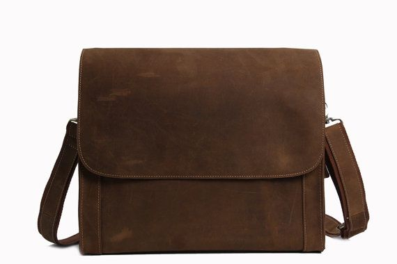 Handcrafted Genuine Messenger Bag / Laptop by MooshiLeatherDesign