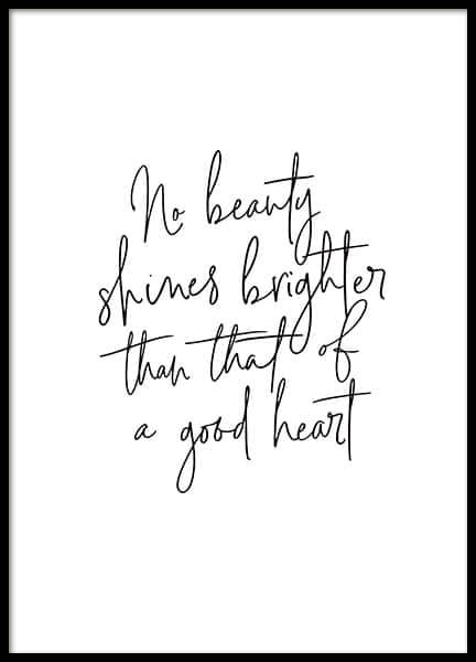 Beauty of a Good Heart Poster