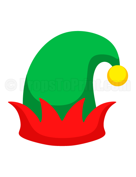 image regarding Elf Hat Printable named Pin by way of Muse Printables upon Image Booth Props at PropsToPrint