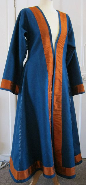 Norse coat with silk trim and wool top stitching | Flickr - Photo Sharing!