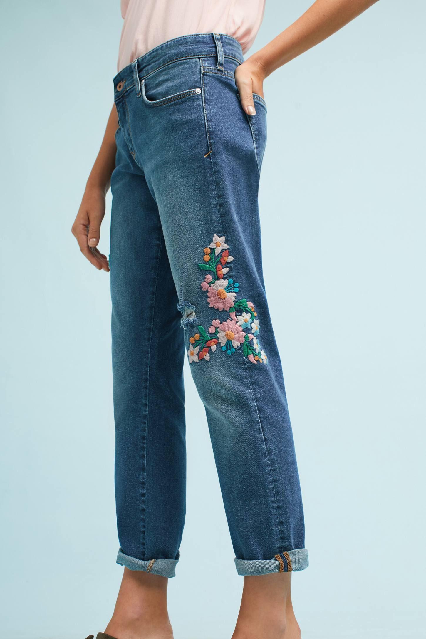Pilcro Mid-Rise Slim Boyfriend Jeans   DETAIL HUB ...