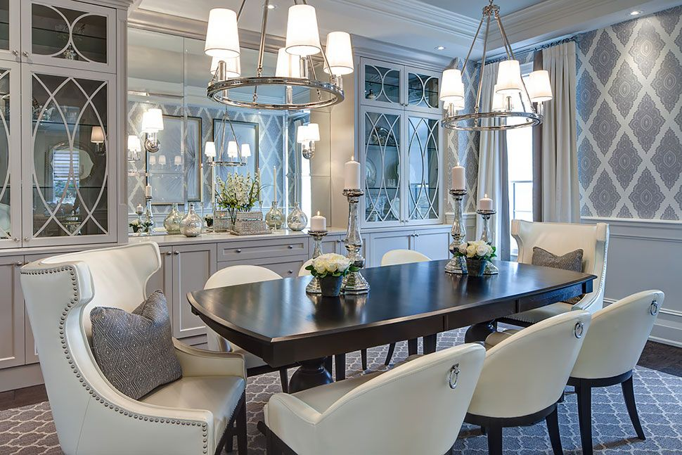 Model Home Dining Rooms copperwood kleinburg model home | jane lockhart interior design