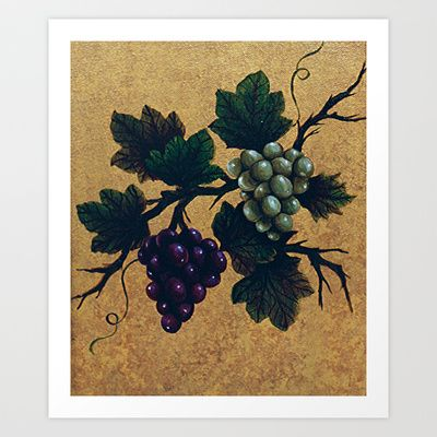 """""""Tuscan grapes"""" Art Print by Precision Studio by Theresa Somerset - $20.00"""