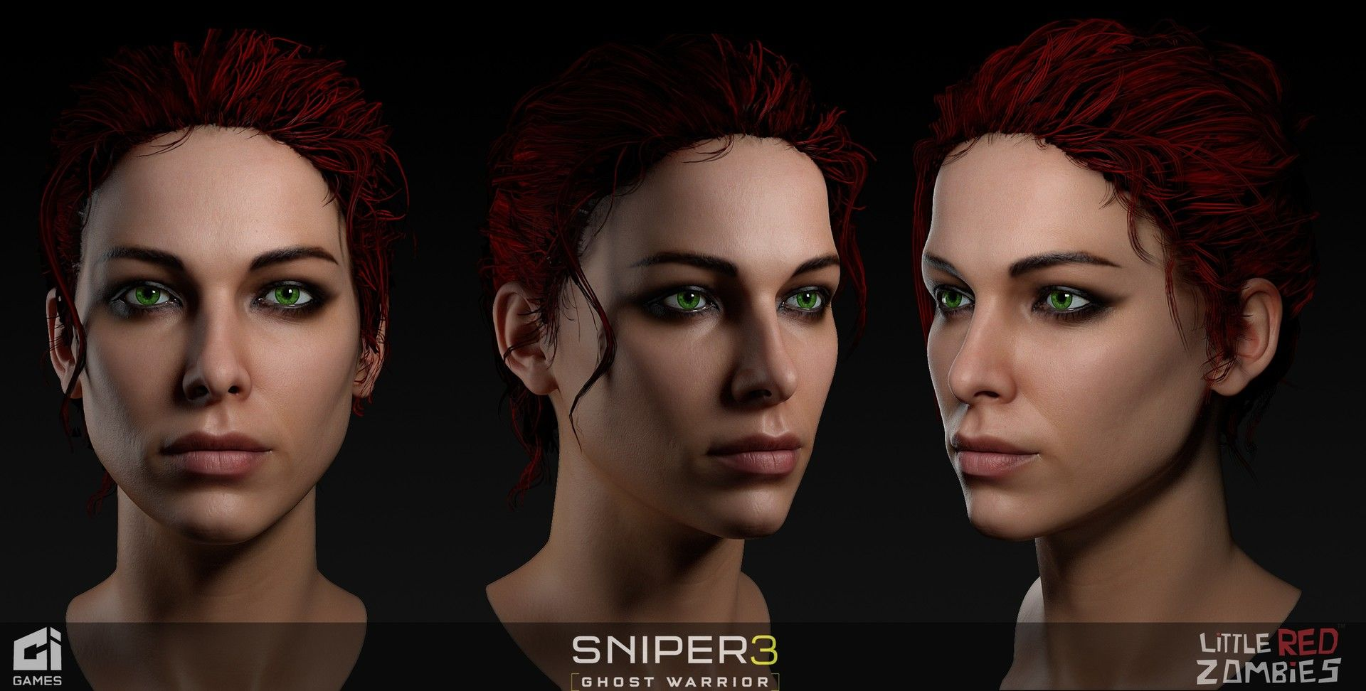 ArtStation - Sniper Ghost Warrior 3 Character - Raquel, LITTLE RED ZOMBIES
