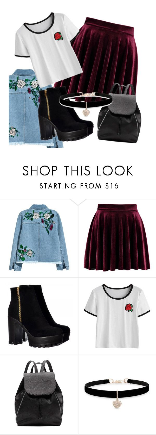 """Rocky"" by thaiscf on Polyvore featuring H&M, Witchery and Betsey Johnson"