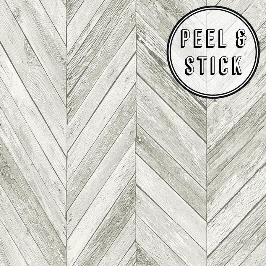 Transform Transform Light Grey Herringbone Wood Peel And Stick Wallpaper Lowes Com Peel And Stick Wallpaper Herringbone Wood Light Grey Walls
