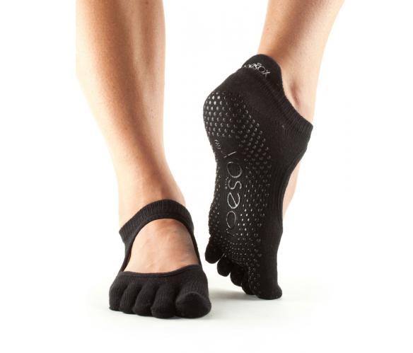 Fitness Mad Toesox Full Toe Bellarina Yoga /& Pilates Grip Sock