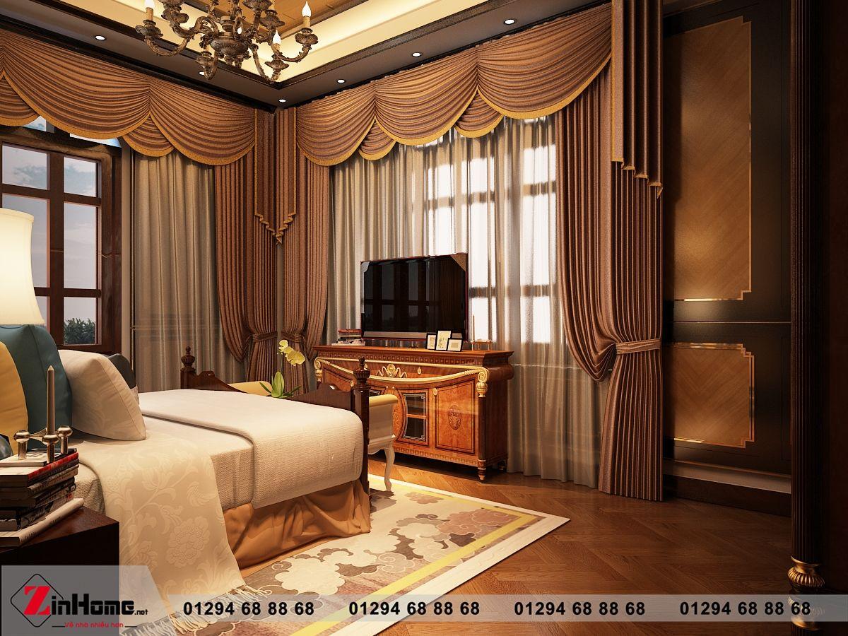 Mẫu thiết kế nội thất biệt thự Bắc Ninh – nhà chị Lan