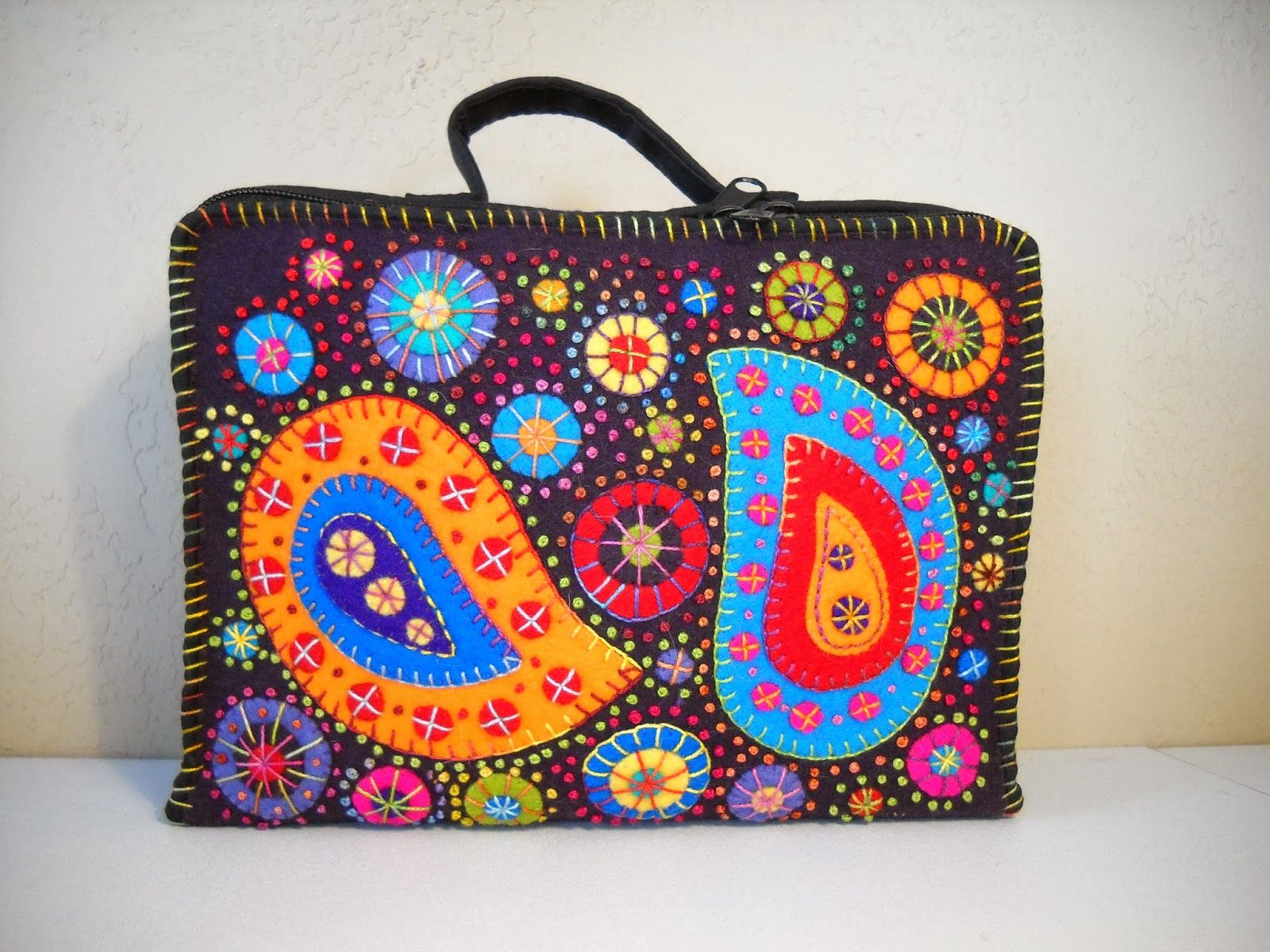 Sewing Kit Beautifully Decorated In Felt
