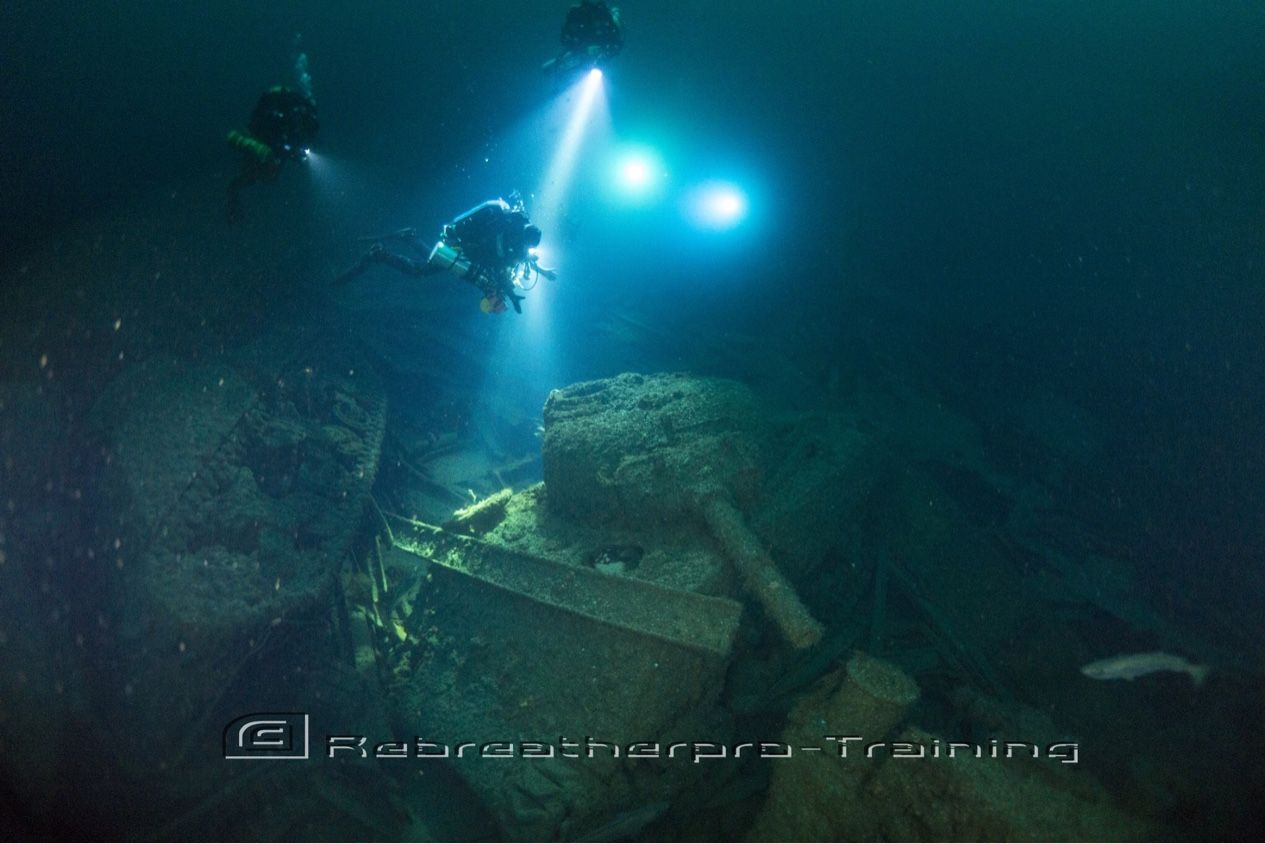 That moment you (John) see your first Sherman Tank under water !! A memory that will last your life time :-) On the Empire Heritage, Living the Dream !!  http://www.rebreatherpro-training.com/News-diving/Sherman-Tank/189