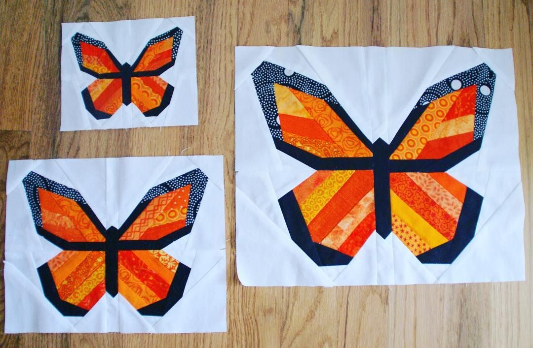 My new pattern, Monarch Butterfly paper pieced block in three sizes. I share more on the blog. Link in profile  My favorite butterfly!  Designed in EQ #eq25 #happyorange #monarchbutterfly