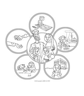 New Muslim Kids: Coloring Page: Islam Is Happiness | Islamic ...