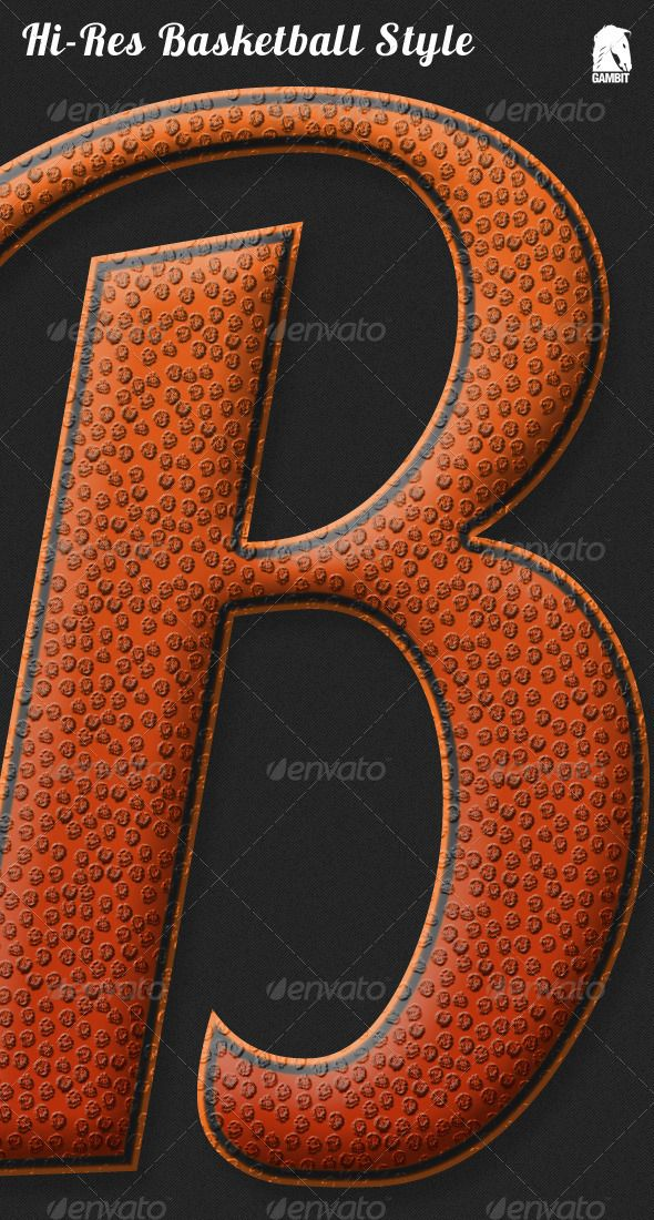 Basketball Inspired Style text effects
