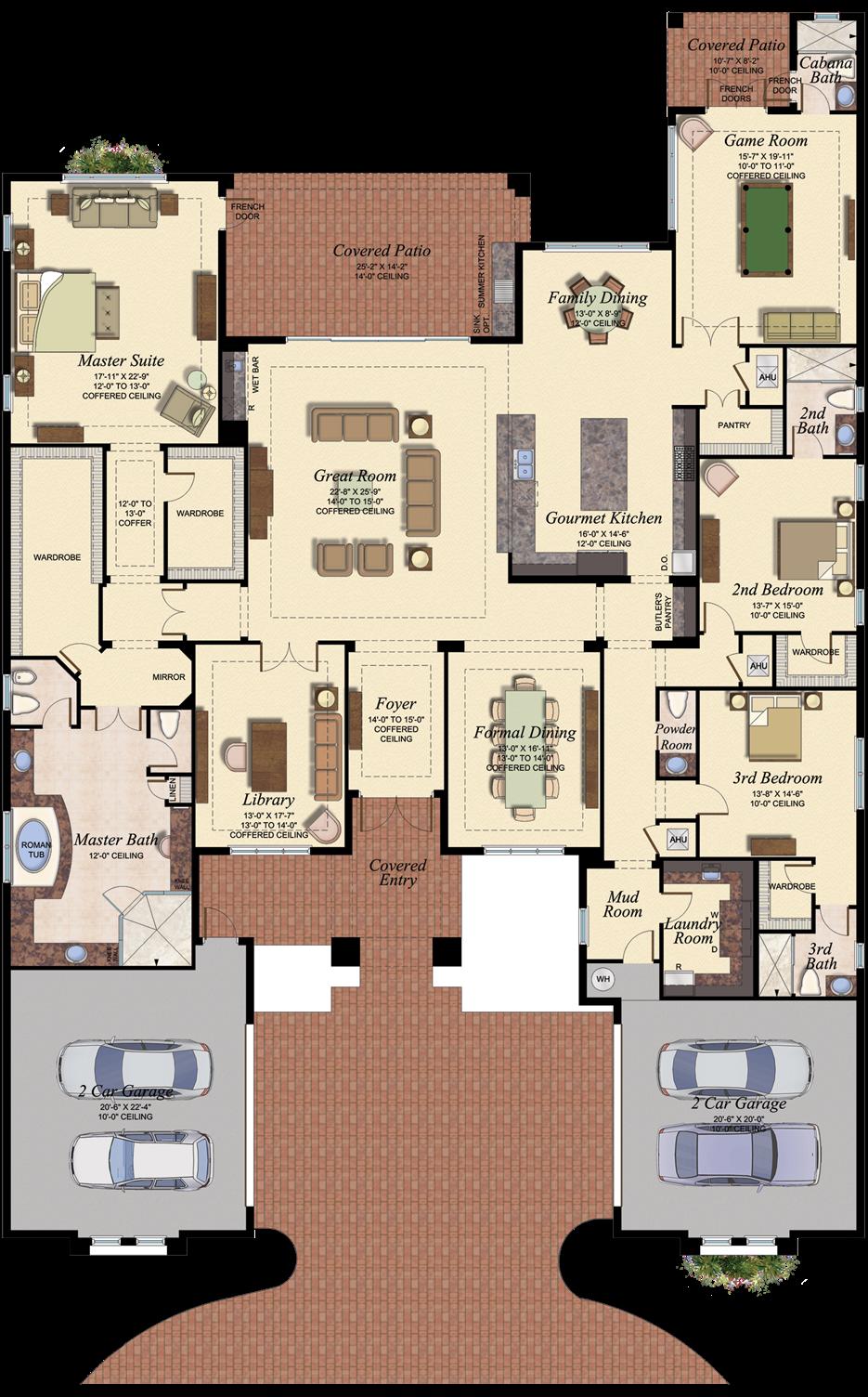 Versailles At Seven Bridges Dream House Plans Home Design Floor Plans House Blueprints