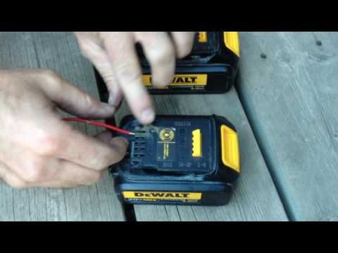 Dewalt Battery Won T Or Will Not Charge This May Fix It Youtube Battery Hacks Dewalt Drill Dewalt