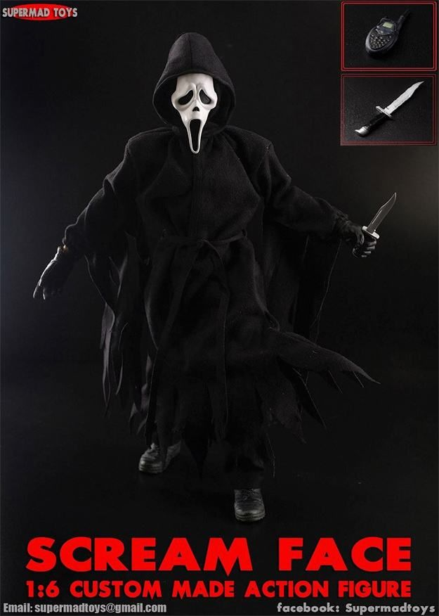 Ghostface Scream Custom Made Action Figure 01 With Images