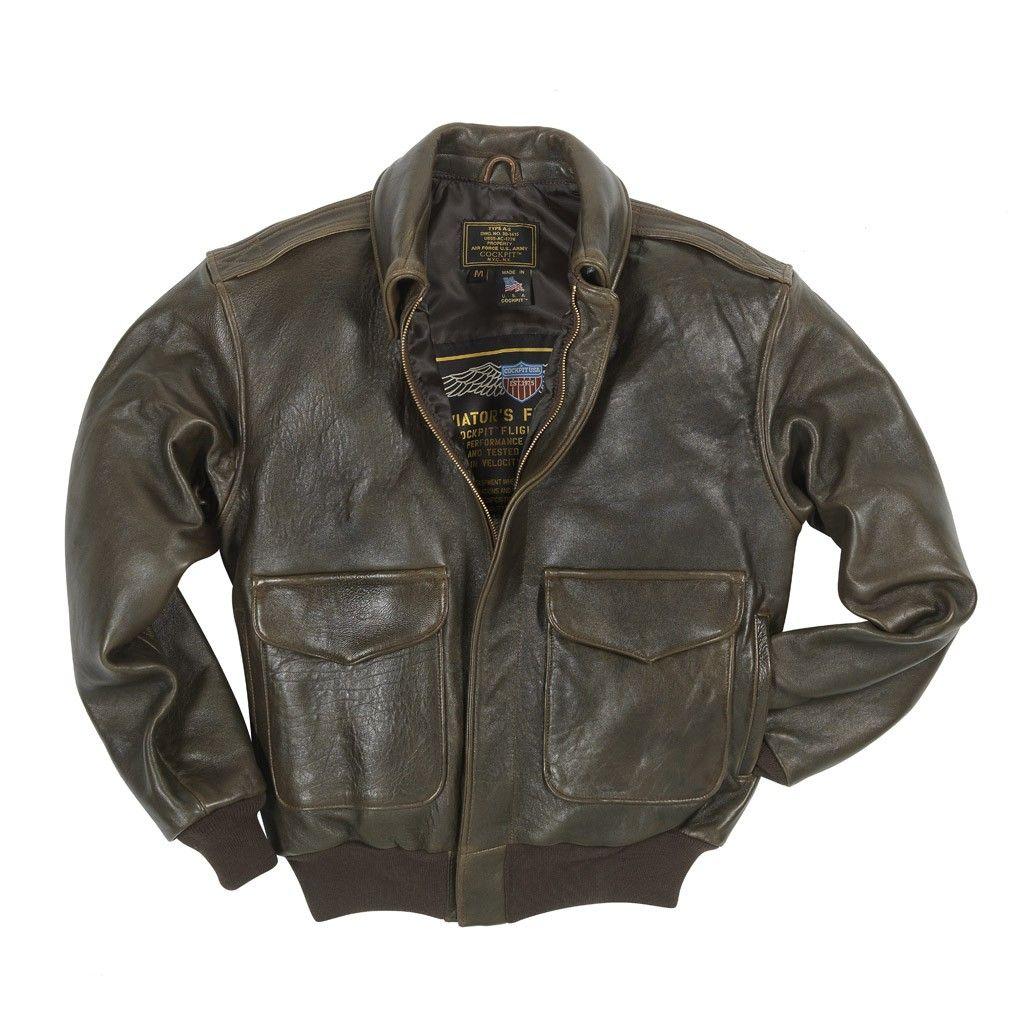 """100 Mission"" A2 Pilot's Jacket Leather flight jacket"