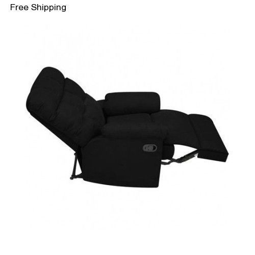 New Bonzy Home Recliner Chair Microfiber Fabric Living Room Sofa Manual Reclining Single Couch Comfy Home The Recliner Chair Living Room Theaters Comfy Couch