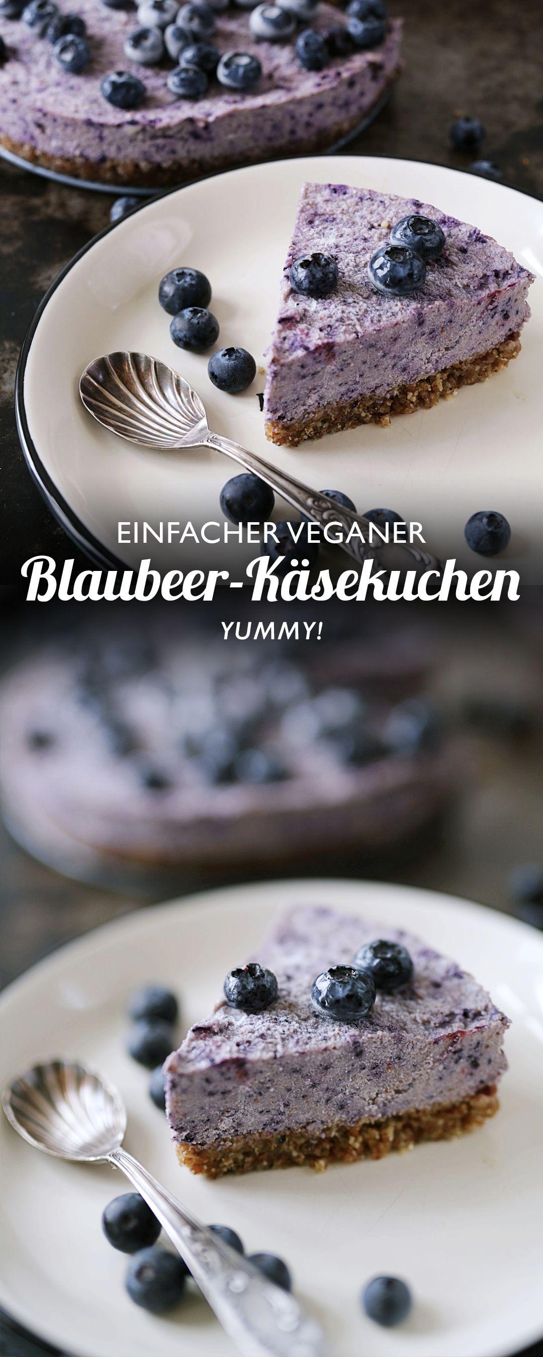 Roh-veganer Blaubeeren Käsekuchen #veganerezeptemittag