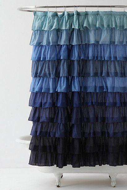 Ocean Blue Shower Curtain Anthropologie
