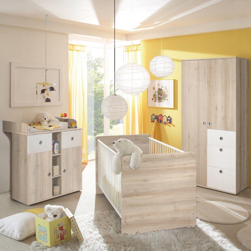 Babyzimmer 3 Tlg Komplettset Schrank Bett 70x140 Wickelkommode