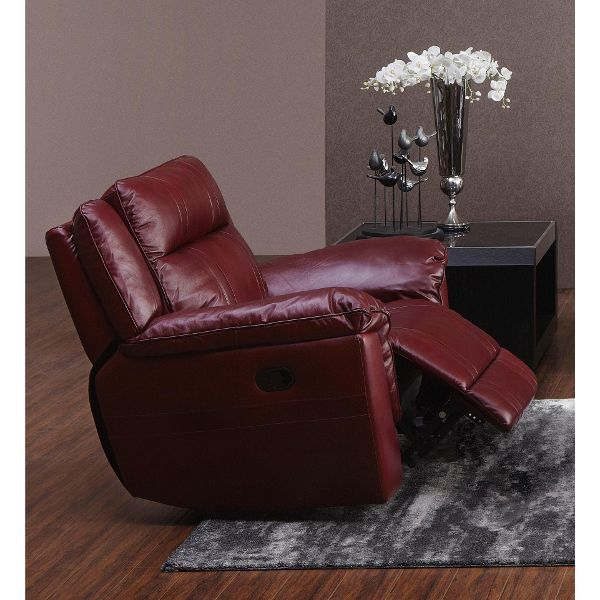 Red Leather Match Power Recliner K Motion Swivel Glider